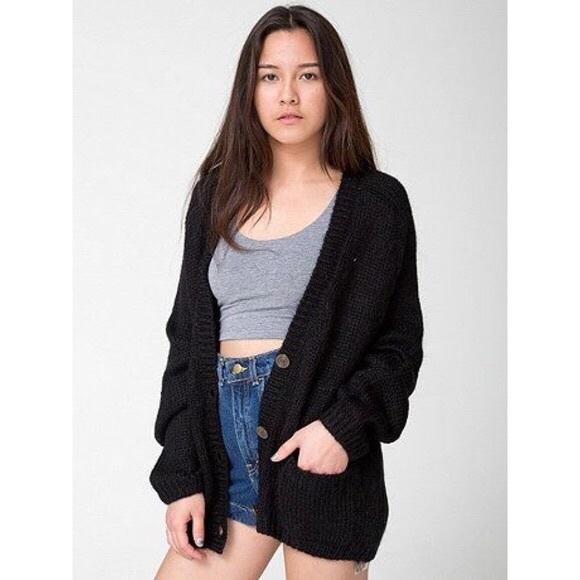 American Apparel Sweaters - American Apparel Black Mohair Cardigan